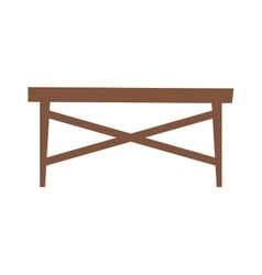 Wood table vector