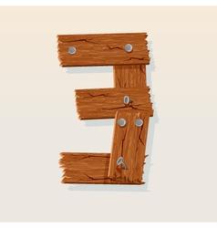 wooden type 3 vector image