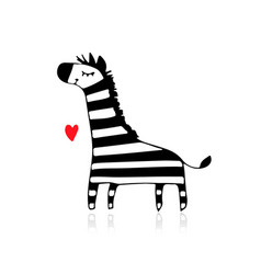 zebra sketch for your design vector image