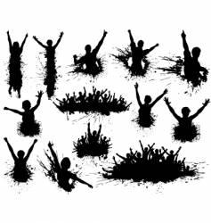celebration grunge vector image vector image