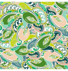 Colourful seamless Indian paisley pattern vector image vector image