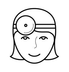 Eye doctor icon vector