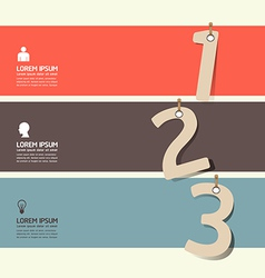 modern Design numbered banners template vector image vector image
