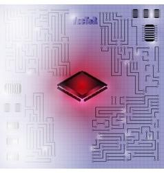 Motherboard 02 vector image vector image