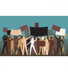 protest group vector image vector image