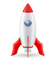 space rocket retro spaceship vector image vector image