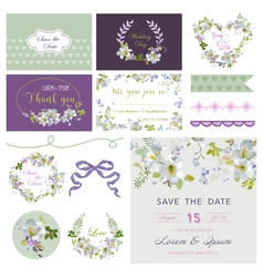 Wedding Flower Lily Theme Design Elements vector image vector image