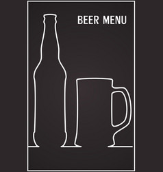 beer menu template design template vector image