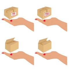free delivery and shipping on the box vector image vector image