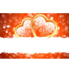 grungy valentines day card vector image