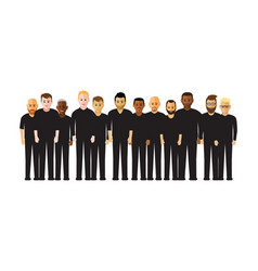 men in a line vector image vector image