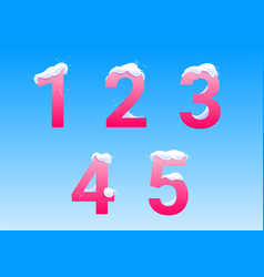 numbers with snow caps vector image