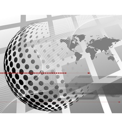 3d business abstract background vector