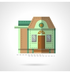 A house flat color icon vector image vector image