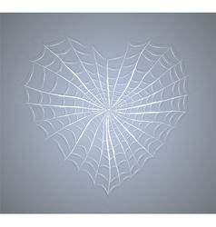 Cobweb heart vector image vector image