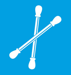 cotton buds icon white vector image