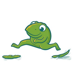 Leaping Frog vector image vector image