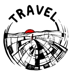 logo painted travel vector image vector image