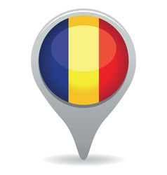 romanian flag pointer vector image vector image