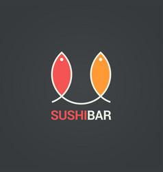 sushi menu design fish menu background vector image