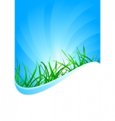 vector background with grass vector image vector image