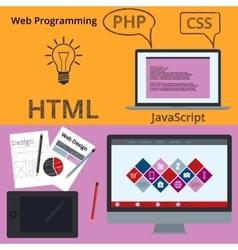 Banner web design vector