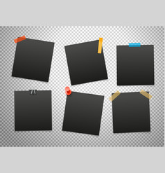 black frames isolated on transparent background vector image vector image
