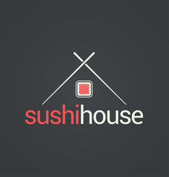 sushi menu house concept design background vector image