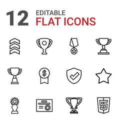 12 award icons vector