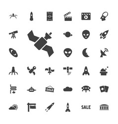 33 space icons vector