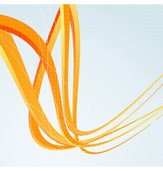 Background template with orange speed waves vector image