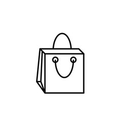 bag package shopping icon vector image