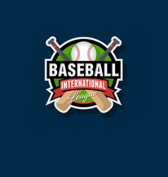 baseball tournament emblem vector image