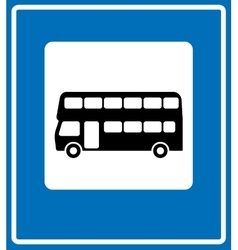 Black London bus icon on white background vector
