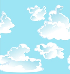 Blue seamless pattern of clouds vector