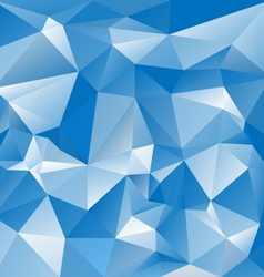 blue sky polygon triangular pattern background vector image