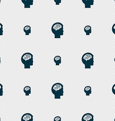 Brain sign Seamless pattern with geometric texture vector image