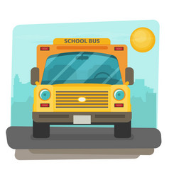 Bus school art flat style vector