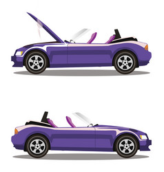 car crash before and after vector image