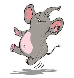 cartoon image of dancing elephant vector image