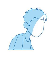 cartoon man medical condition sick image vector image