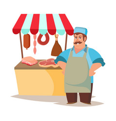 classic butcher professional butcher man vector image