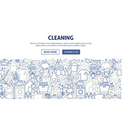 cleaning banner design vector image