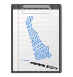 clipboard delaware map vector image
