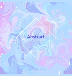 Colorful hand-painted frame background vector