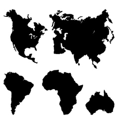 Continents pictograph vector