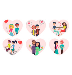 couples time together love vector image