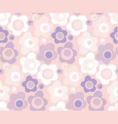 Cute baby style floral pattern in pastel color vector