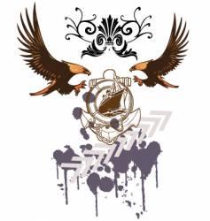 eagle ship vector image