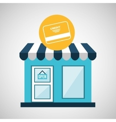 ecommerce store credit card bank icon vector image